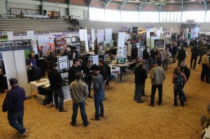 Weber Arena buzzed with conversation during the exhibit portion of the 2014 Cattlemen's Day event.